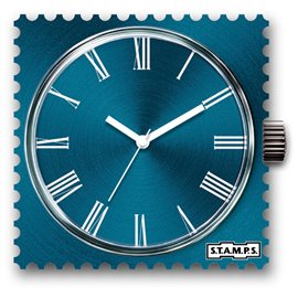 Montre Stamps cadran de montre romano blue