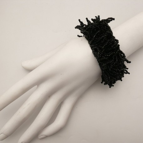 bracelet-fantaisie-bijou-noir-perles-de-rocailles-bijou-createur-manouk-ref-u0464