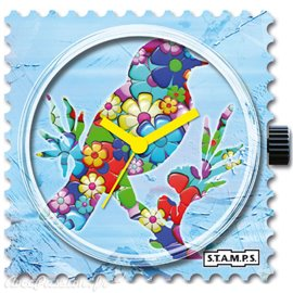Cadran de montre Stamps flower bird