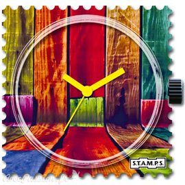 Cadran de montre Stamps colorful walls