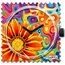 Cadran de montre Stamps flower reflection