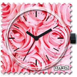 Cadran de montre Stamps roses