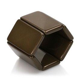 Bracelet élastique de montre Stamps belta marron