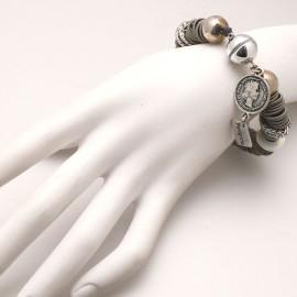 Bracelet fantaisie de créateur argent Périgrine métal