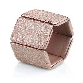 Bracelet élastique de montre Stamps belta doré rosé structuré