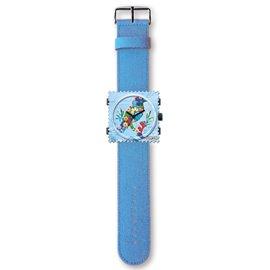 Montre Stamps bracelet de montre bleu moyen