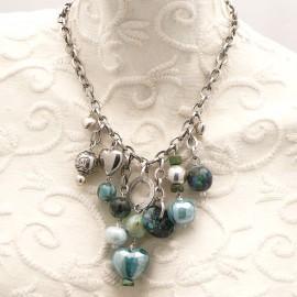 Collier fantaisie Périgrine turquoise