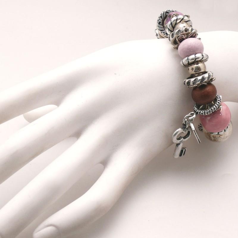 Createur De Bijoux Fantaisie Paris : Bracelet fantaisie femme cr?ateur r?ve c?ramique rose