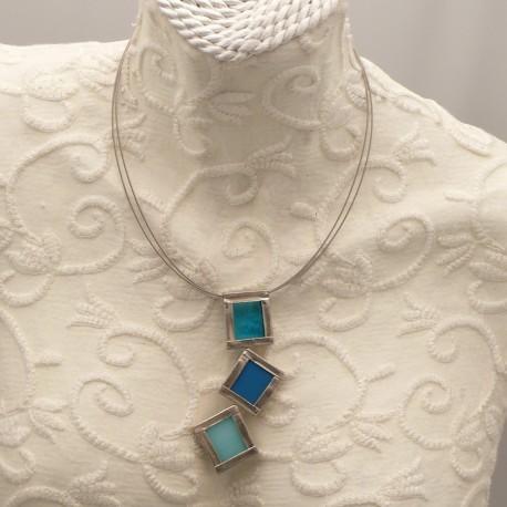 collier-fantaisie-ras-de-cou-3-carres-vitrail-argent-bleu-et-bijou-createur-ref-u0513