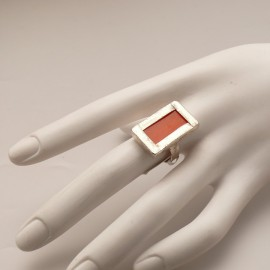 bague-fantaisie-reglable-rectangle-vitrail-orange-bijou-createur-z-ref-u0520