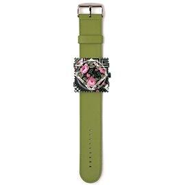 Bracelet de montre Stamps vert armée