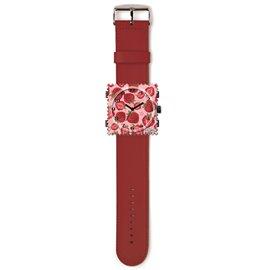 Bracelet de montre Stamps rouge foncé