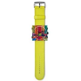 Bracelet de montre Stamps vert anis