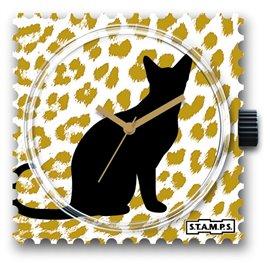 STAMPS Cadran de montre chat silhouette