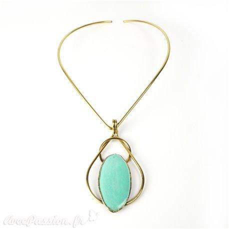 collier-fantaisie-austral-torque-laiton-et-medaillon-turquoise-bijou-createur-austral-ref-u053