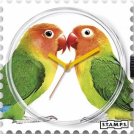 Montre Stamps cadran de montre lovebirds