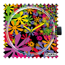 STAMPS Cadran de montre fleur flower flash
