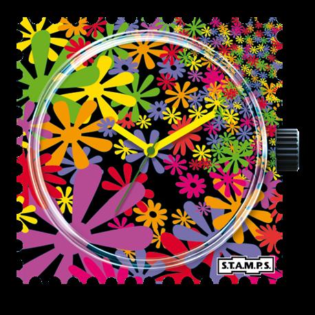 Montre Stamps cadran de montre flower flash