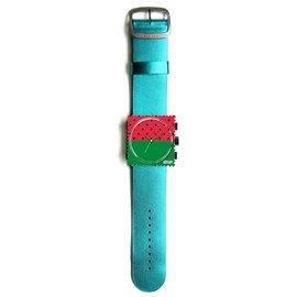 Bracelet de montre Stamps bleu glitter