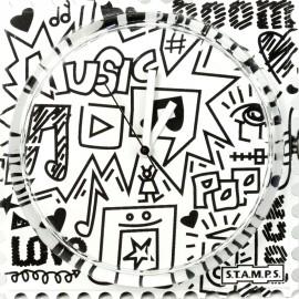 Montre Stamps cadran de montre music love