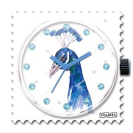 STAMPS Cadran de montre diamond swarovski peacock
