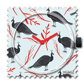 STAMPS Cadran de montre stormy red