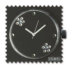 STAMPS Cadran de montre black eva diamond swarovski