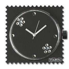 STAMPS Cadran de montre black eva diamond