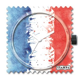 STAMPS Cadran de montre vive la france