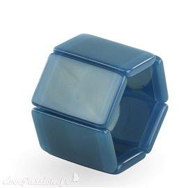 Montre Stamps bracelet élastique bleu creamy