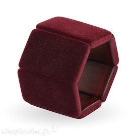 Bracelet élastique de montre Stamps belta bordeaux velours