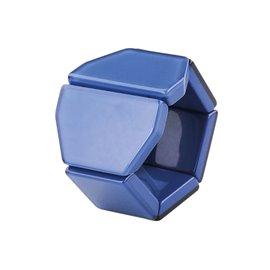 Bracelet élastique de montre Stamps belta Y crystal bleu