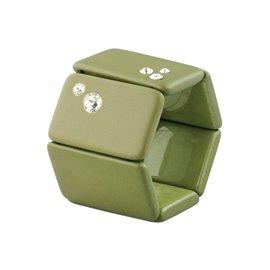 Bracelet élastique de montre Stamps belta kaki diamond