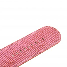 Bracelet de montre Stamps pearl leather rose