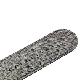 Bracelet de montre Stamps crystal leather argent titane