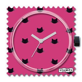 STAMPS Cadran de montre pink cat