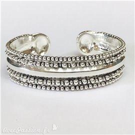 Bracelet fantaisie Ubu argent jonc boules