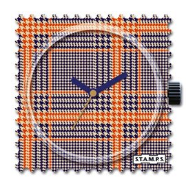 STAMPS Cadran de montre orange karos