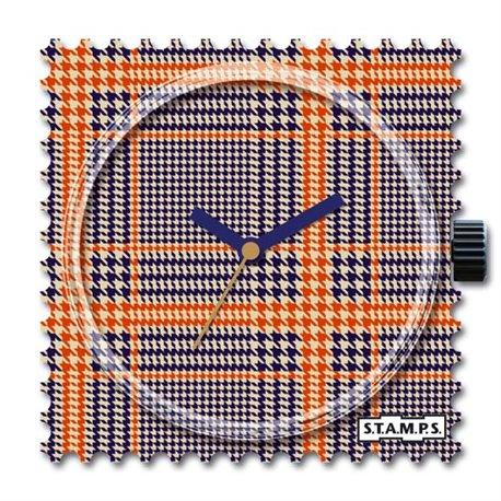 STAMPS Cadran de montre orange karos