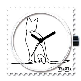 STAMPS Cadran de montre lovely cat