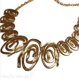 Collier Dolce Vita spirales doré