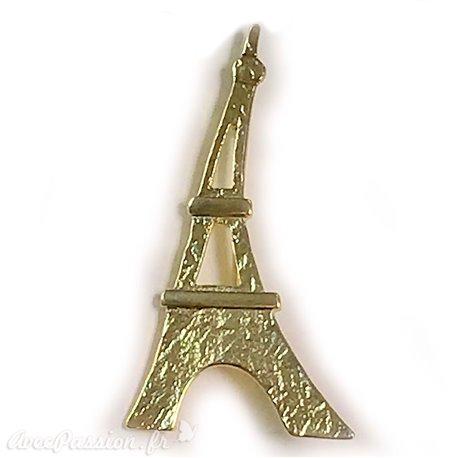 Broche Dolce Vita dorée Tour Eiffel