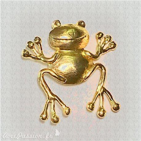 Broche Dolce Vita dorée grenouille