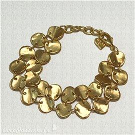 Bracelet fantaisie Dolce Vita double rang ronds dorés