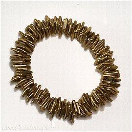 Bracelet fantaisie Dolce Vita carrés élastiques dorés