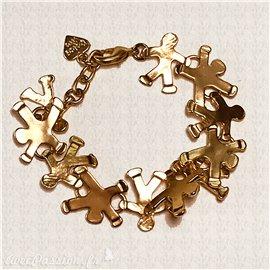 Bracelet fantaisie Dolce Vita petit homme doré