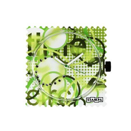 STAMPS Cadran de montre diamond green time swarovski