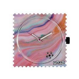 STAMPS Cadran de montre diamond pink five swarovski