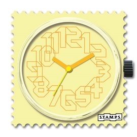 STAMPS Cadran de montre yellow iris