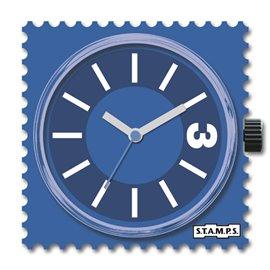 STAMPS Cadran de montre mosaic blue